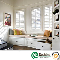 Basswood Paulownia Plantation window wooden shutters