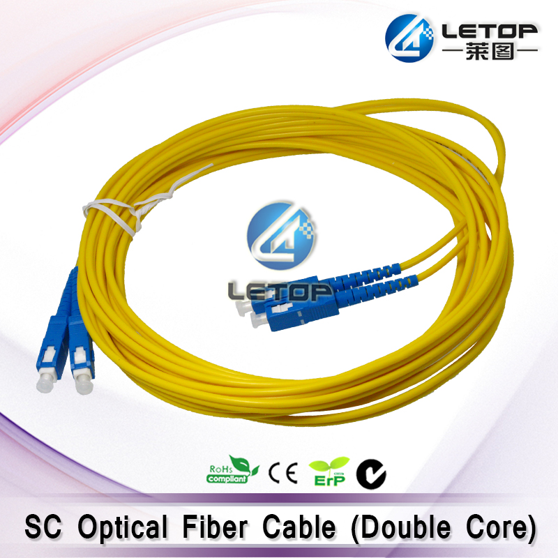 Eco solvent plotter printer spare parts optical fiber cable for Challenger/Icontek (double core 8m)