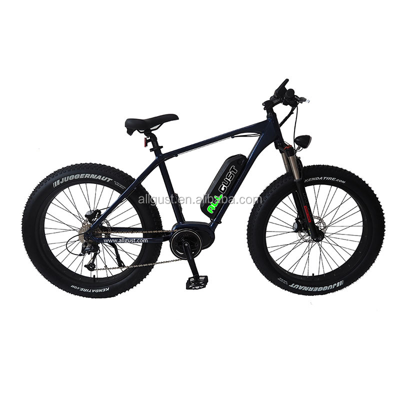26 Inch High-powered Fat Tire Electric Bicycle With 250W Bafang Middle Drive Motor