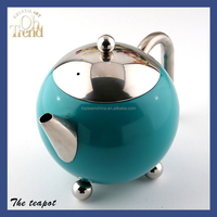 Wholesale porcelain coffee table set ceramic tea pot/ tea kettle