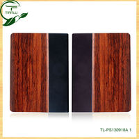 Flip Cover wood Case for iPad5,for ipad 5 case pu+wood combo,unique hottest cell phone accessories for ipad 4