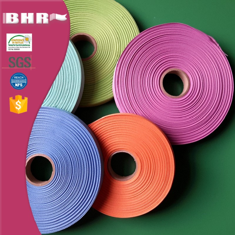 plain weaving cotton or polyester webbing for shopping bag or clothes