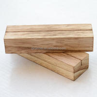 Burned Effect Vintage Paulownia Wood Menu
