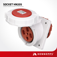 Hennepps IP66 waterproof dc power switch socket outlet 12v 20a