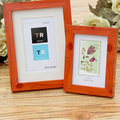 Household Plastic photo frame in wooden photo frame appearance