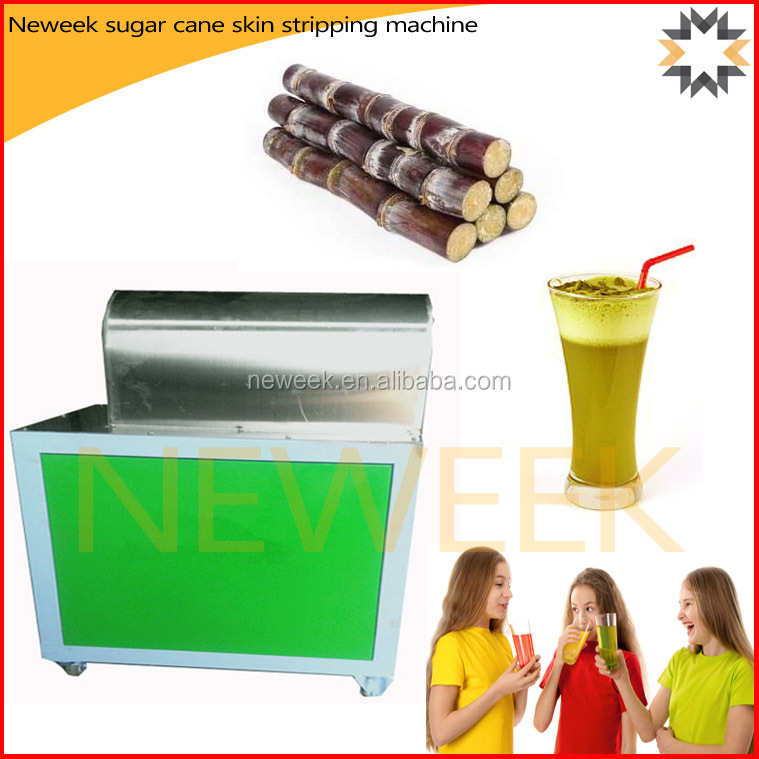 Neweek electric 99 % peeling rate remover sugar cane skin stripping machine