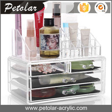 china manufacturer custom plexiglass acrylic cosmetic display shelf