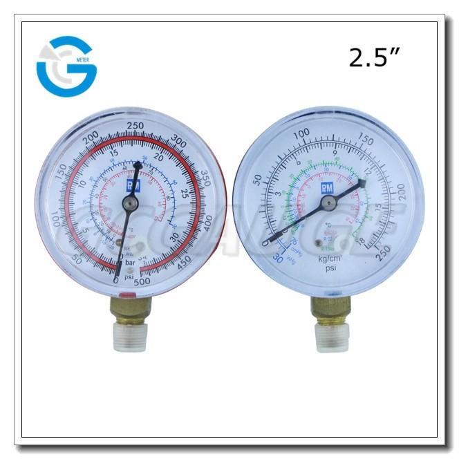 High quality 2.5inch black steel gauge air conditioner price
