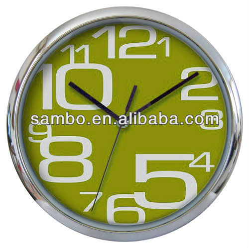 Irregular Numbers Colorful Decorative Wall Clock