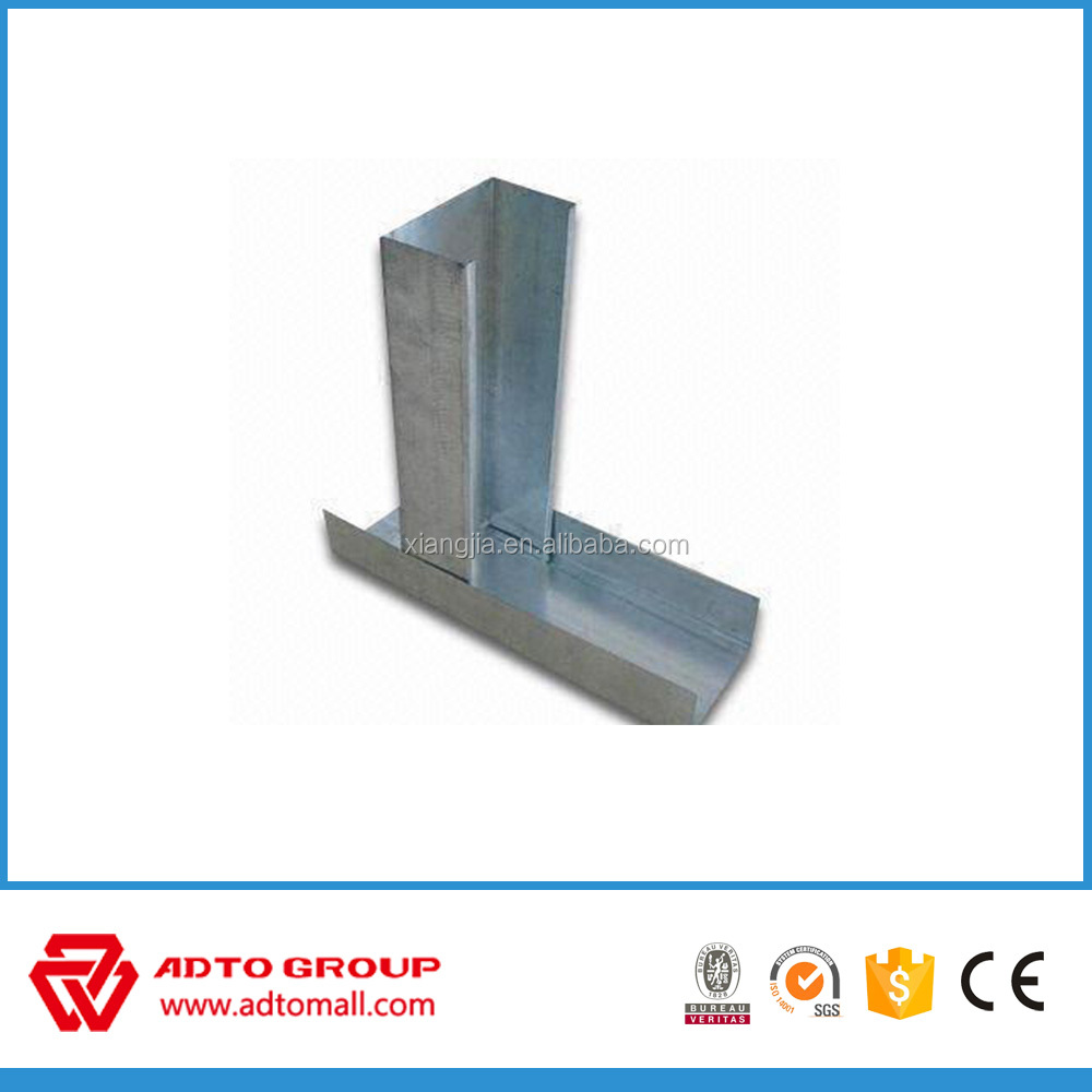Drywall partition system metal ceiling track
