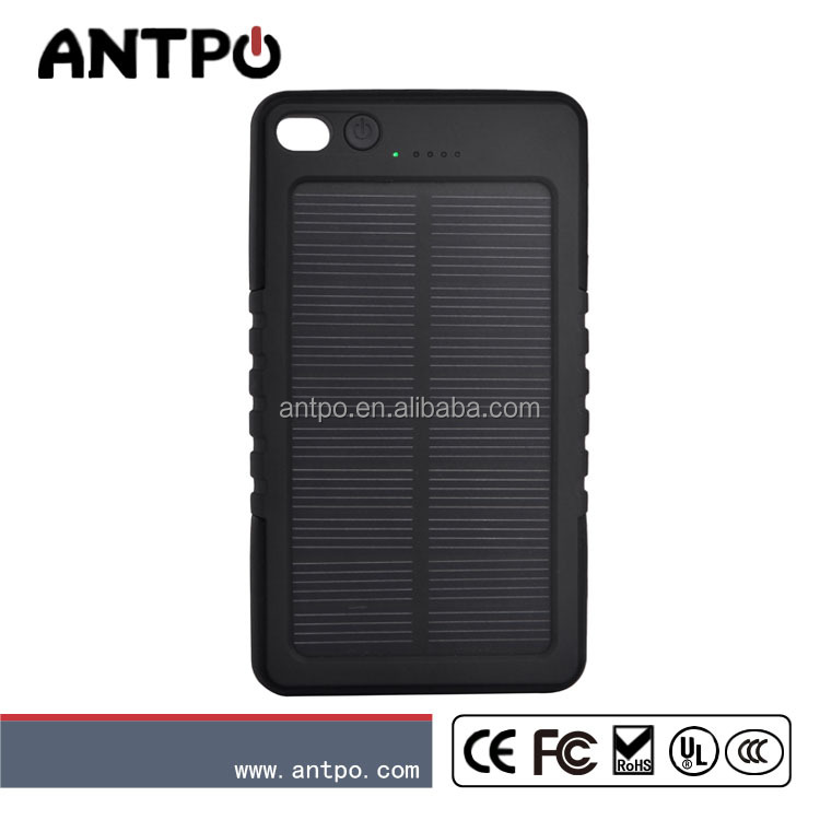 SOS help function solar charger for camping cell phone solar power bank