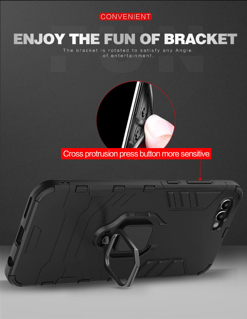 Finger Ring Holder TPU PC hybrid case for huawei honor view 10,phone case cover for huawei honor v10