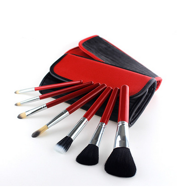 A new portable antibacterial fiber 10 make-up brush sets tools factory direct sale