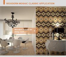 PFM Chinese popular luxury art mosaic pattern wall glass picture for hotel&villa project design