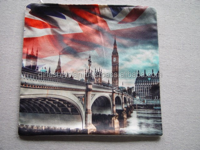 wholesale top selling digital print polycotton custom colors / designs cushion covers