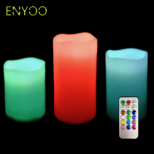 12 Color Changing Flameless LED Candle with 18 Keys Timer Remote Control