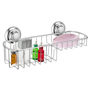 No-rust Suction Shower Basket