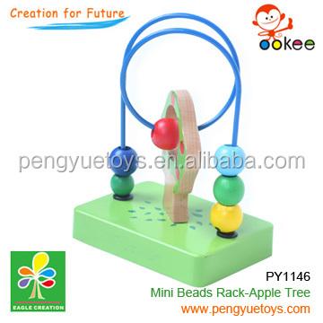 PY1146 Wooden lovely Mini Beads Rack-Apple Tree toy