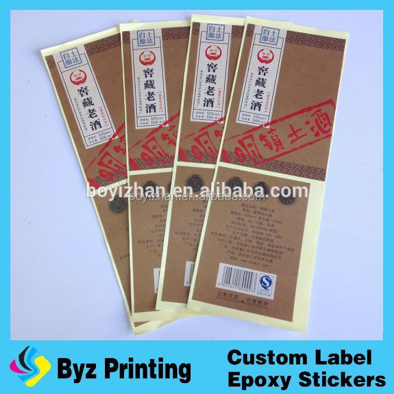 Hot selling advantage technology new style labels for spice bottles