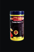 "Aquarium Fish Food 'CICHLID NUTRI-PRO"" for cichlids including parrot fish, african & american cichlids and flower horn fish"