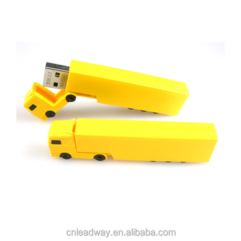 2018 gift hottest colorful promotional ABS truck shape usb flash drives custom logo printing