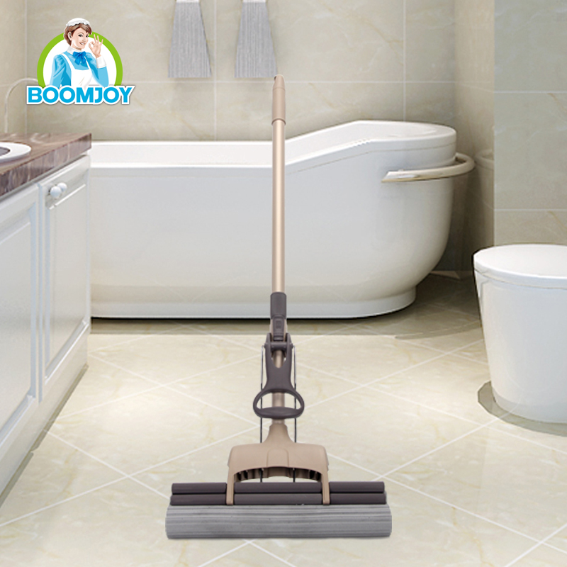 Hot sale easy clean and rinse floor cleaning Iron/ stainless steel pole telescopic widened PVA mop (33cm)