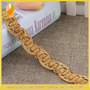 Sofa decorative accessories 2.5CM polyester braid trimming/gimp