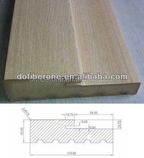 Water proof woodgrain texture PVC WPC door jamb door frame