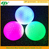 two piece glow golf ball with several colors for night training