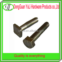 china supplier c1022 carbon steel square bolt , round head bolt