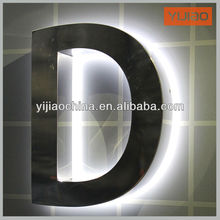 acrylic base stainless steel 3d letters