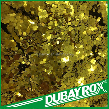 Gold Glitter Flakes Powder for Decoration Material