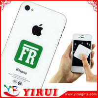 Customized digital printed logos microfiber mobile cleaner stickers prices