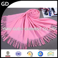 Add long imitation cashmere shawl scarf woman, thickening of pure color in the fall and winter and warm tassel scarf shawl
