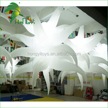 Newest Party Attractive Inflatable Lighting Star Led / Wedding Lighted Decorative Hanging Stars Ball