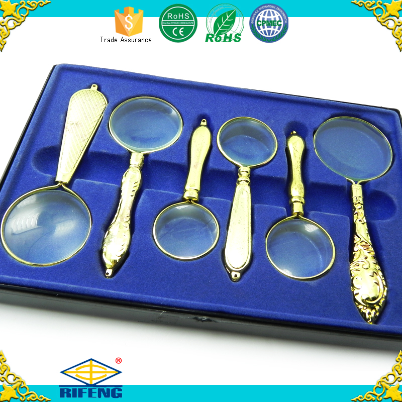 High quality hand magnifier magnifying glass set