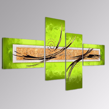 Modern Handmade Painting Art/Green Abstract Oil Painting/Home Decor Canvas Art