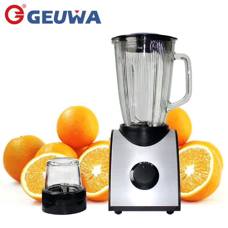 geuwa powerful 400w pure copper motor 1400ml glass jug electric juice mixer blender B19