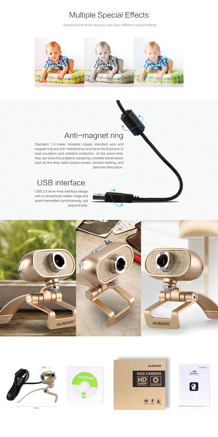 Chinese Webcam 1.3 Megapixel PC Camera HD USB 2.0 Web Cam High definition with zero noise intelligent digital noise reduction