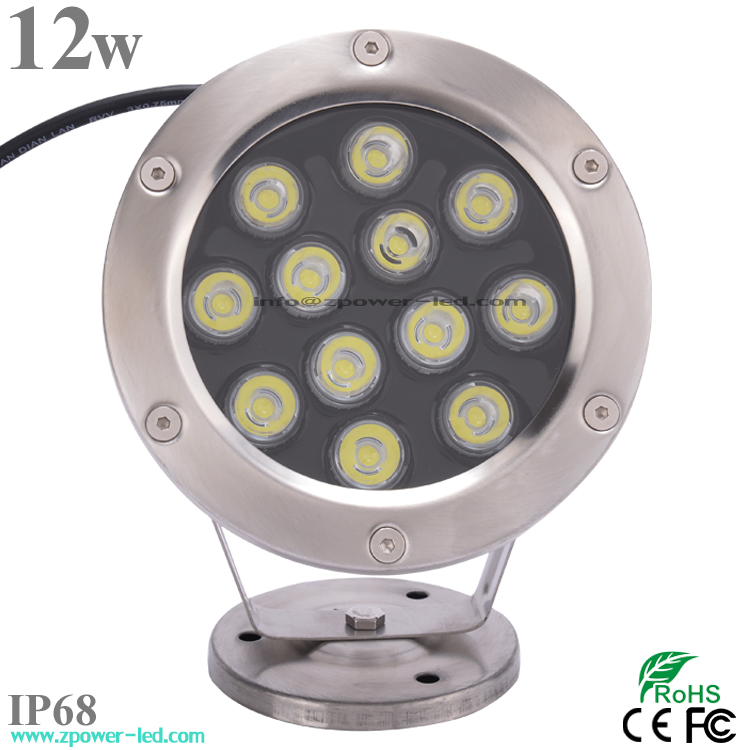 Factory price 12W 12V RGB IP68 LED Swimming Pool Light Underwater