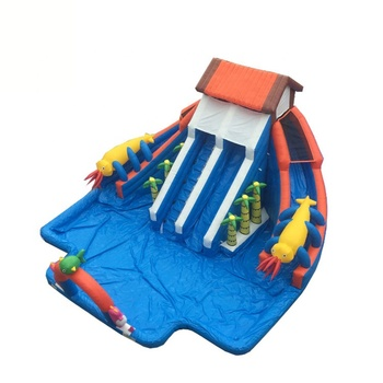 Outdoor Amusement Waterpark Castle Equipment Commercial Water Park Slide Pool Playground Inflatable Water Parks