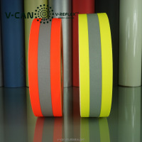Turnout Gear Reflective Fireproof Coating Strips , Protective Body Suit Reflective Decorative Tape RT-FRHW506030-CTN2