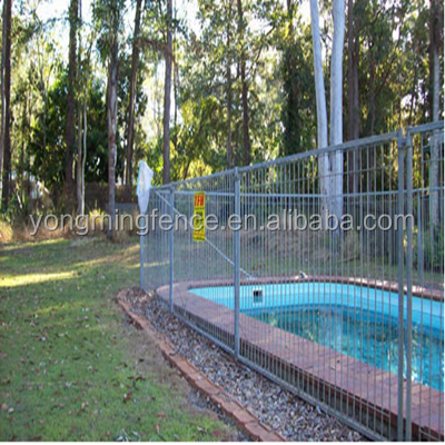 Powder Coated Frame Finishing and Nature Pressure Treated Wood Type temporary pool fence