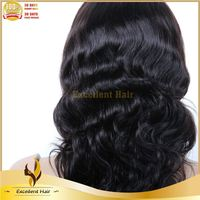 Excellent Hair 100% Virgin Dyeable Glueless Front Lace Wig