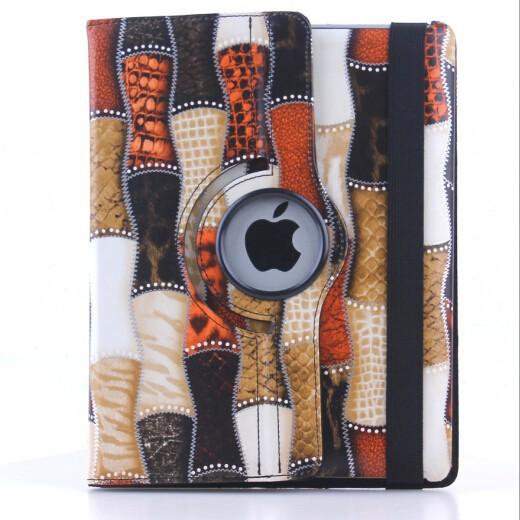 Bamboo design Rotating Case for Apple iPad 4 3 2
