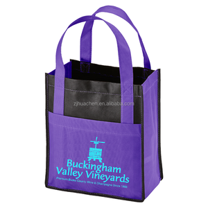 Durable Promotional Reusable Printed Non Woven Wine Bottle Totes