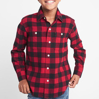 Factory Direct hot selling wholesale casual fashion kid plaid flannel shirts for children boy