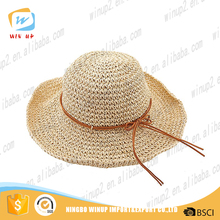 Winup latest designs hot sale ladies straw hat for golf summer hats for women 2016