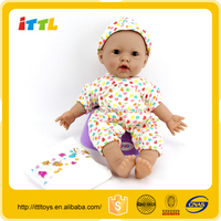 lovely baby toys fashion doll/16inch cotton body rubber girl doll