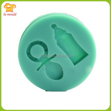 baby accessories nipple pacifier bottle candy silicone mold for cake decorating